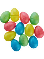 Glitter Pastel Fillable Easter Eggs 12ct