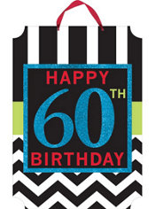 Glitter Celebrate 60th Birthday Sign
