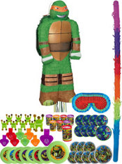 Michelangelo Pinata Kit with Favors - Teenage Mutant Ninja Turtles