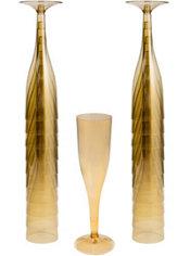 Gold Plastic Champagne Flutes 20ct