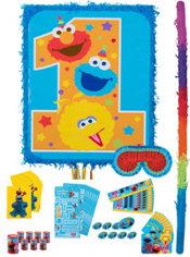 1st Birthday Sesame Street Pinata Kit with Favors
