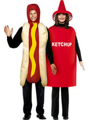 Hot Dog and Ketchup Couples Costumes