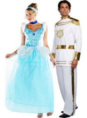 Deluxe Cinderella and Elite Prince Charming Couples Costumes