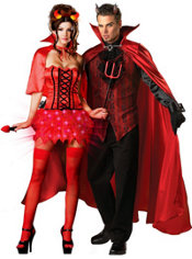 Devil's De-Light and Elite Handsome Devil Couples Costumes