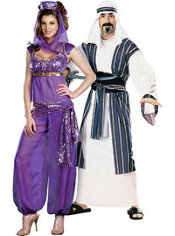Ally Kazam Genie and Desert Prince Couples Costumes