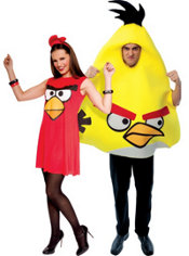 Sassy Red and Yellow Angry Birds Couples Costumes