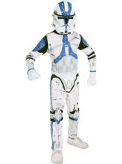 Boys Clone Trooper Costume - Star Wars Clone Wars