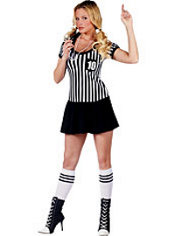 Adult Racy Referee Costume