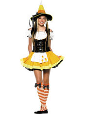 Teen Girls Kandy Korn Witch Costume