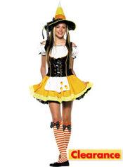 Teen Girls Kandy Korn Witch Costume