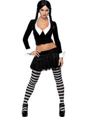 Adult Sexy Wednesday Addams Costume - Addams Family
