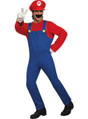 Adult Mario Costume Deluxe - Super Mario Brothers