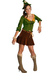 Teen Girls Scarecrow Costume - Wizard of Oz