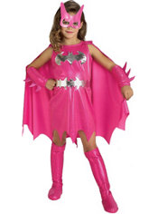 Girls Pink Batgirl Costume