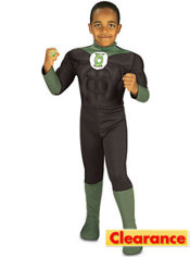 Boys Green Lantern Muscle Costume