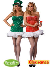 Adult Struck by Luck Plus Size Reversible Cupid and Leprechaun Costume