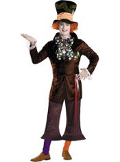 Adult Mad Hatter Costume Prestige - Tim Burton's Alice in Wonderland