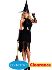 Adult Hocus Pocus Convertible Witch Costume
