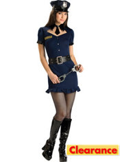 Teen Girls Fashion Police Costume