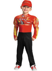 Toddler Boys Muscle Lightning McQueen Costume - Cars 2