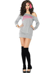 Adult Sweatshirt Dress Flashdance Costume