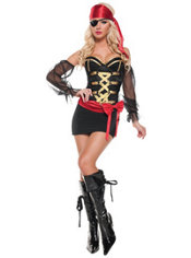 Adult Mystery Pirate Costume