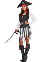 Adult High Sea Sweetheart Pirate Costume