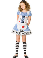 Girls Miss Wonderland Costume