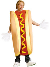Adult Halloweener Hot Dog Costume