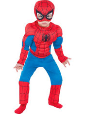 Toddler Boys Classic Spiderman Muscle Costume