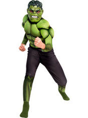 Boys Hulk Muscle Costume - The Avengers