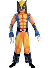 Boys Wolverine Muscle Costume