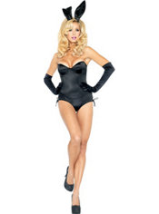 Adult Black Ribbon Bunny Costume