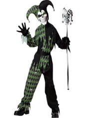Boys Jokes On You Evil Jester Costume