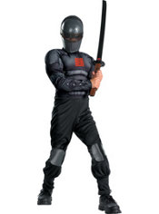 Boys Snake Eyes Light-Up Muscle Costume - G.I. Joe