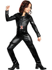Girls Black Widow Costume Deluxe - The Avengers