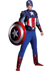 Adult Captain America Muscle Costume Plus Size - The Avengers