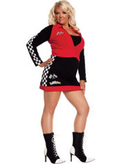 Adult High Speed Hottie Racer Girl Costume Plus Size