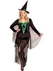 Adult Light-Up Wicked Me Witch Costume Plus Size