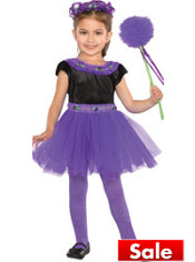 Toddler Girls Purple Madden Fairy Princess Costume