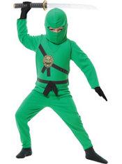 Boys Green Ninja Avenger Costume