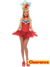 Adult Red Macaw Costume