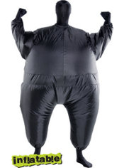 Adult Black Inflatable Morphsuit
