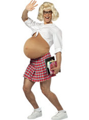 Adult Pregnant School Girl Costume