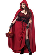 Adult Mysterious Red Riding Hood Costume Plus Size