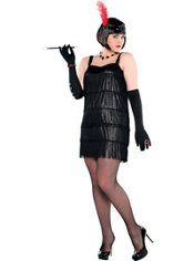 Adult Flashy Flapper Costume Plus Size