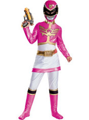Girls Pink Ranger Costume Deluxe- Power Rangers Megaforce
