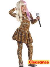 Girls Leopard Rap Superstar Costume
