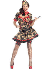 Adult Army Brat Body Shaper Costume Plus Size