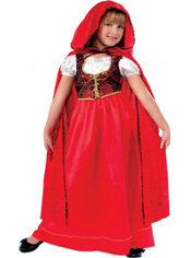 Girls Lil Red Riding Hood Costume Deluxe
